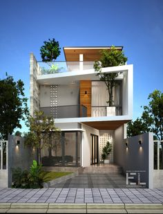 Small house design, modern house design, box house design, fasade h