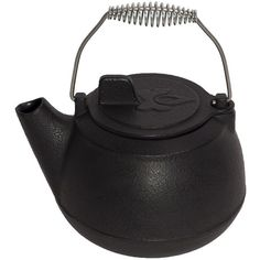 Camp Chef Cast-Iron Teapot (Black) found on Polyvore