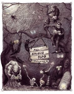 iweon:  Neil Gaiman suggests a new tradition for Halloween: give somebody a scary book. Would you join?http://youtu.be/1tYtLeWN5NQ  beautiful poster!