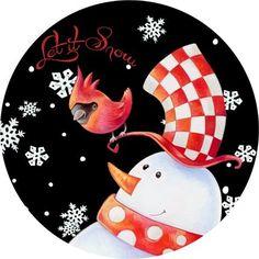 RR rd snowman christmas