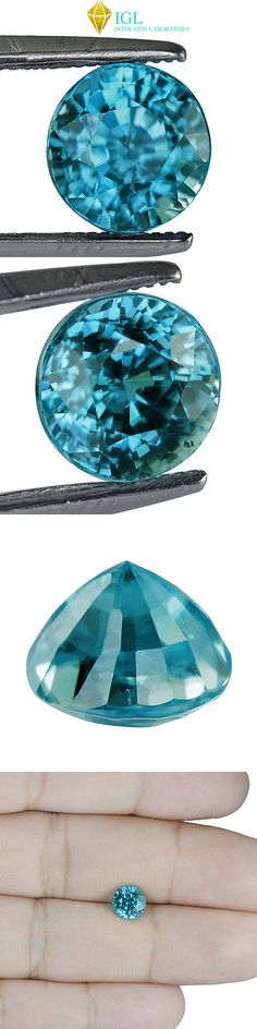 Zircon 10286: 2.422Cts Igl Certified Natural Zircon Cambodia Light Blue Color Round Gemstone BUY IT NOW ONLY: $51.99