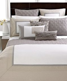 hotel collection modern block bedding collection macyu0027s perfect mix of taupe u0026 grey