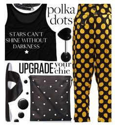 """""""So Dotty: Polka Dots"""" by maranella ❤ liked on Polyvore featuring Duro Olowu, Ancient Greek Sandals, Topshop, The Row and PolkaDots"""