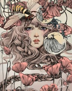 "Artist regularly noted as Audrey Kawasaki, but I believe that may be incorrect? She has posted all of her artwork on her website and this one is not there nor is it similar in style. In addition, the art appears to be signed by ""Rann?"" If anyone can verify the artist, I would love to know as it is beautiful!"