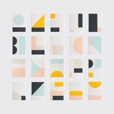 Fragment Box Set of Art Prints - Design Milk Shop Web Design, Design Logo, Design Poster, Shape Design, Print Design, Branding Design, Branding Ideas, Corporate Branding, Material Design