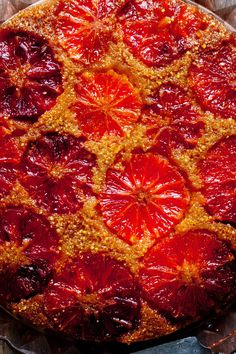 NYT Cooking: In the cold days of a long winter, our tables are brightened by citrus season, and nothing has more flair than a blood orange. Here is a one-pan cake of cornmeal and flour that lets the orange's ruby flesh shine. It takes just a little time to assemble and less than an hour to bake. The result is a festive fruit dessert guaranteed to lift even the worst winte...