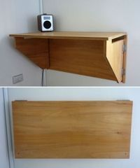 fold-down-desk. IdeaPaint on surface makes it functional up or down. Make this standing-height.