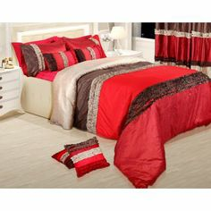 Establish your demand for #beauty with these splendid #bedspreads set of 5 - a #bed cover, 2 #pillow & #cushion covers.   #DiwaliDecor and #FabFurnish
