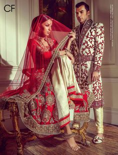 Outfits by:Cuckoo Fashion. A light dupatta that's not going to give you a sprain in your neck during the ultra long wedding photo-ops.