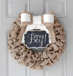 Baby Chalkboard Wreath for Boy