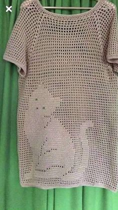 Fabulous Crochet a Little Black Crochet Dress Ideas. Georgeous Crochet a Little Black Crochet Dress Ideas. Diy Crochet Sweater, Crochet Tunic Pattern, Crochet Mittens, Crochet Cardigan, Crochet Shawl, Crochet Clothes, Crochet Stitches, Filet Crochet, Crochet Vintage