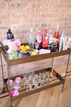 cute & colorful bar cart