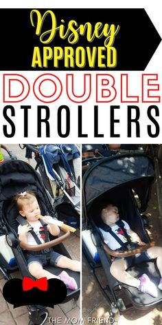 Traveling to Disney soon? Make sure you bring a Disney approved stroller! Here are the BEST strollers for Disney World and Disneyland that pass Disney's policy restrictions. These Disney stroller hacks will make traveling to Disney and enjoying the Disney park SO much easier! Family Vacation Destinations, Disney Vacations, Double Strollers, Baby Strollers, Travel With Kids, Family Travel, Flying With A Baby, Friends Mom, Baby Gear