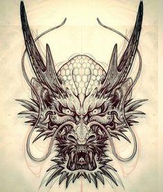 Dragon hand tat