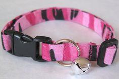Camo Chic Cat Collar - Customizable
