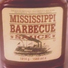 Mississippi barbecue sauce #bbq #saus