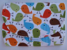 Baby Burp Cloth Spit Up Cloth Baby Shower Gift by RagamuffinsandCo