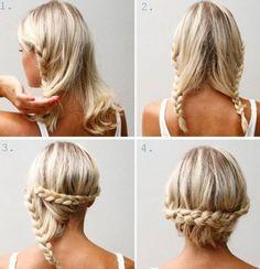 3. Doppelt geflochtener Haarknoten