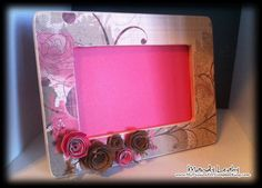 Love personalized picture frames. The wooden frame is only $1.00 at michael's!