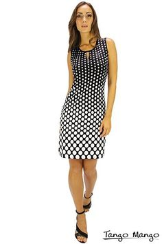 Tango Mango Black and White Polka Dotted Cutout Tank Dress | PJ's Unique Peek | Women's Clothing Boutique | FREE SHIPPING!