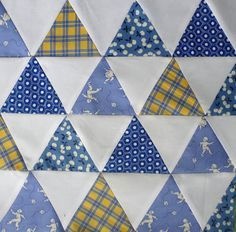 These are the best instructions on doing an equilateral triangle quilt!