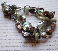 chunky charm bracelet, statement bracelet, multi strand bracelet, spring trends.....Eclispe. $55.99, via Etsy.