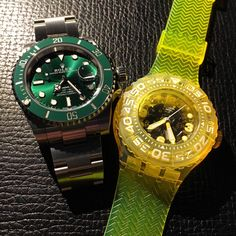 [Rolex Submariner & Swatch Scuba Libre] - The Sprite Combo