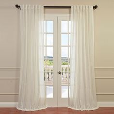 Half Price Drapes Antigua Off White Striped 96 x Sheer Curtain Single Panel Sheer Linen Curtains, Sheer Curtain Panels, Blackout Curtains, Drapes Curtains, Striped Curtains, White Curtains, Window Panels, Bed Linen, Curtain Room