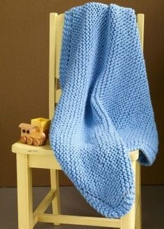 Very easy baby blanket knitting pattern, only three basic stitches.It is a free pattern with the instructions right on the post. click through for the pattern. It works up beautifully.