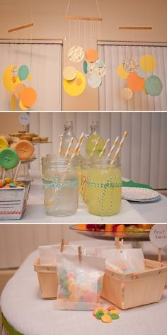 cute as a button baby shower |