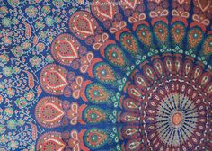 Hippie Hippy Wall Hanging Indian Mandala by Rajasthancreations