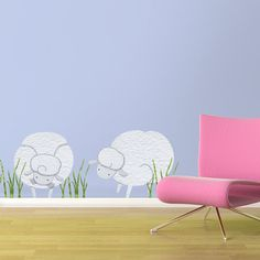Sheep Wall Stickers Wall Decals for Baby Room, Girls Room, Boys Room. $29.99, via Etsy.