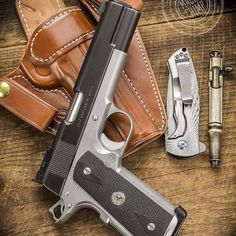 Post on gunsblades 1911 Pistol, Colt 1911, Colt 45, Weapons Guns, Guns And Ammo, M&p 9mm, Revolvers, Luxury Mens Clothing, Custom Guns
