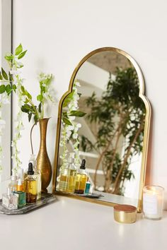 Varena Arched Wall Mirror | Urban Outfitters Mirrors Urban Outfitters, Urban Outfitters Home, Spiegel Design, Full Length Mirror Wall, Small Mirrors, Window Panels, My New Room, Home Decor Accessories, Office Accessories