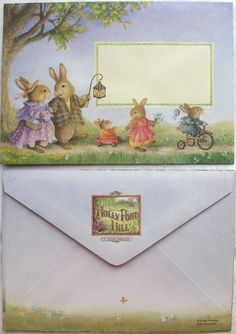 Holly Pond Hilll What a lovely envelope. Both front and back. I really should have my kids communicate more via letters and not text so much.
