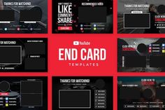 designeour: End by Medialoot. Graphic Design Templates, Card Templates, Banner Template, Social Media Template, Social Media Design, Business Brochure, Business Card Logo, Channel Branding, Youtube Design