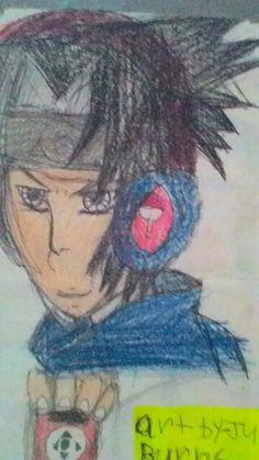 Sasuke listening to dubstep