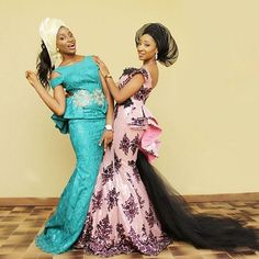 Velvet and lace Aso-ebi style 2017 Latest African Fashion, Kids Fashion, African Style, Ankara Gowns, Latest Ankara Styles, African Children, Kitenge, Aso Ebi, Lace Design