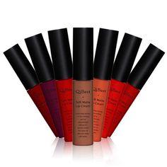 Maquillage Teinte Rouge À Lèvres Doux Terne Liquide Rouge À Lèvres Longue Durée Cru Brillant À Lèvres Batom Liquido Étanche Mat pour les lèvres