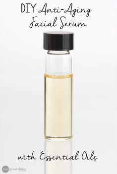 My favorite DIY anti-aging facial serum using some of the best of the best essential oils for healthy, beautiful skin!