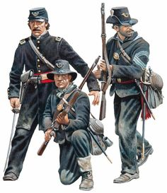 Unionistas durante la Guerra de Secesión. http://www.elgrancapitan.org/foro/viewtopic.php?f=21&t=11680&p=889422#p889419