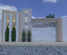 Modern Fence Design, Modern House Design, Modern Interior Design, House Gate Design, Door Design, Exterior Design, Front Wall Design, Best Tiny House, Entrance Design
