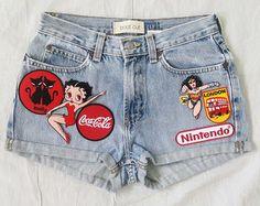 Patched Denim / Reworked Vintage Jean by KodChaPhornJacket465