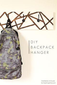 DIY Backpack Hanger on iheartnaptime.com #backtoschool