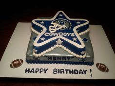 dallas cowboys birthday cake Posted by Nancy Lopez at 628 PM