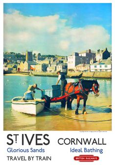Railway Posters - Page 2 Posters Uk, Train Posters, Railway Posters, Poster Prints, Vintage Maps, Vintage Travel Posters, Vintage Signs, St Ives Cornwall, Cornwall England