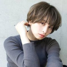 2018 Japan's latest and most popular curly hair - Page 28 of 37 - zzzzllee My Hairstyle, Cute Hairstyles, Short Perm, Androgynous Hair, Hair Arrange, Mid Length Hair, Long Faces, Natural Curls, Hair Lengths