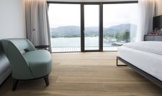 Room with like view? Admonter Oak Lapis rustic alpin FLOORs at Scalaria Event-Resort Wolfgangsee, Austria Hotel Interiors, Erika, Austria, Floors, Curtains, Room, Photography, Home Decor, Timber Flooring