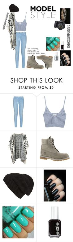 """Untitled #15"" by ruthmary-hemnes on Polyvore featuring 7 For All Mankind, Chicnova Fashion, Timberland, Eos, Phase 3, Essie, women's clothing, women, female and woman"