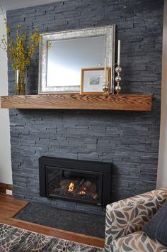 Image result for slate fireplace veneer